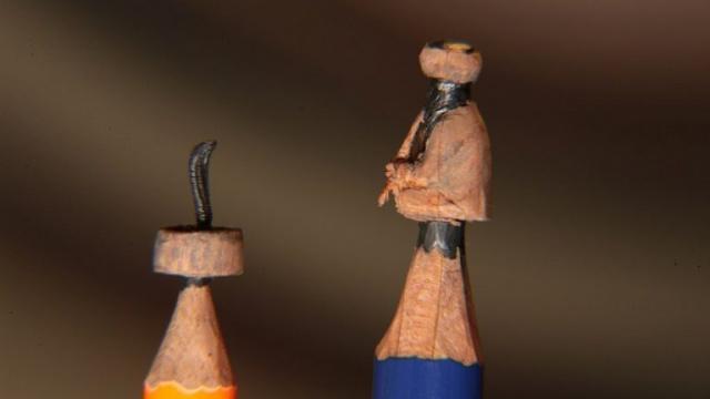 Muhteşem sanat! Kocaelili usta kalem ucuyla bakın neler yapıyor!
