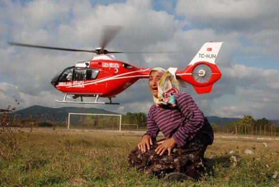 Helikopter Hasta Çocuğu Götürdü