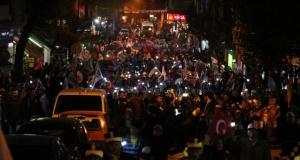 Darıca'da binler EVET için yürüdü
