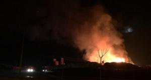 Gebze'de paletçi yangını