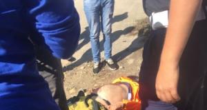 Eskihisar'da motosiklet kazası!
