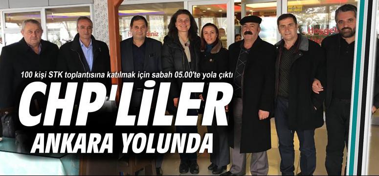 CHP'liler Ankara yolunda