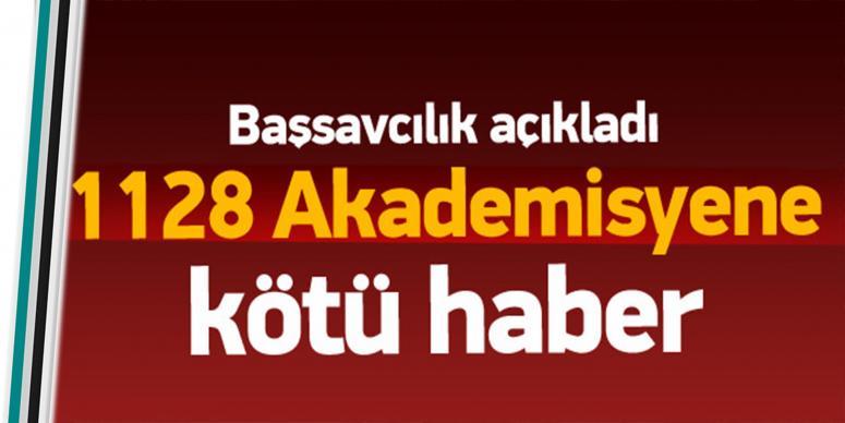 1128 Akademisyene kötü haber