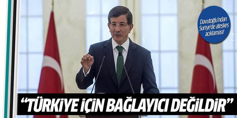 Davutoğlu'ndan ateşkes açıklaması!
