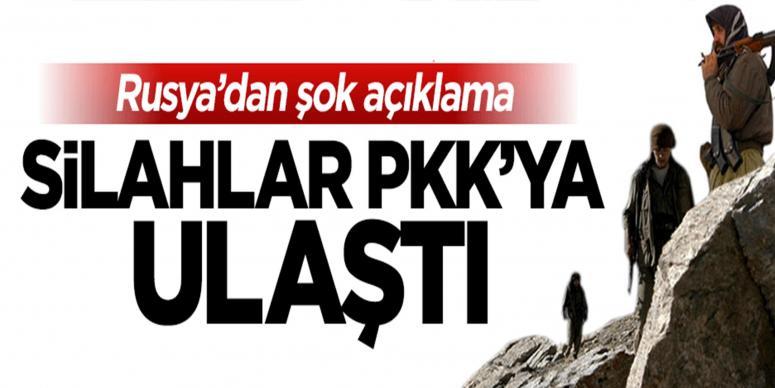 Rusya'dan şok açıklama: Silahlar PKK'ya ulaştı
