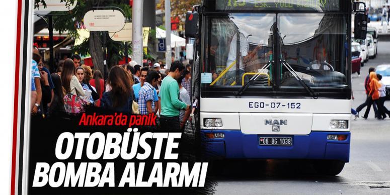 Ankara'da bombalı otobüs alarmı