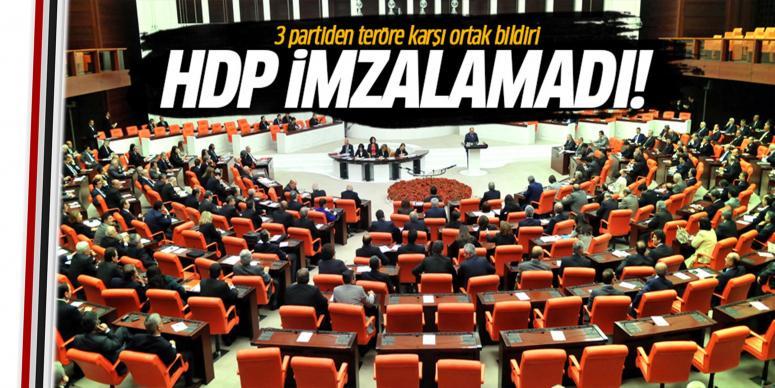 3 partiden teröre karşı ortak bildiri