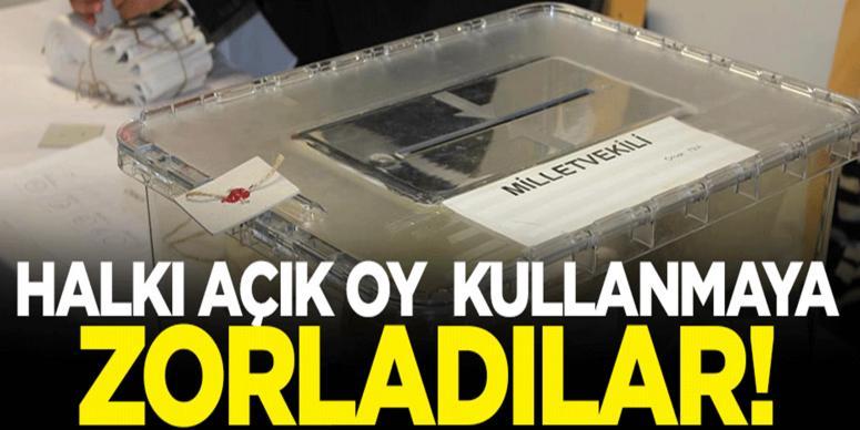 HDP'liler halkı açık oy kullanmaya zorladı