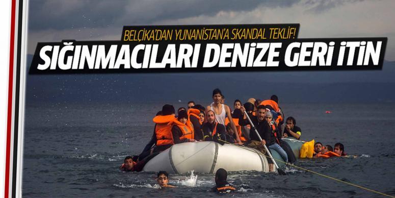 Sığınmacıları denize geri itin
