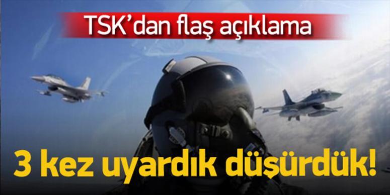 TSK Suriye sınırında uçak düşürdü