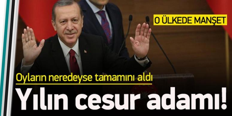 Erdoğan yılın cesur adamı seçildi