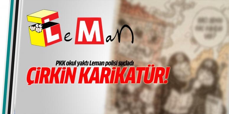 Leman'dan çirkin karikatür