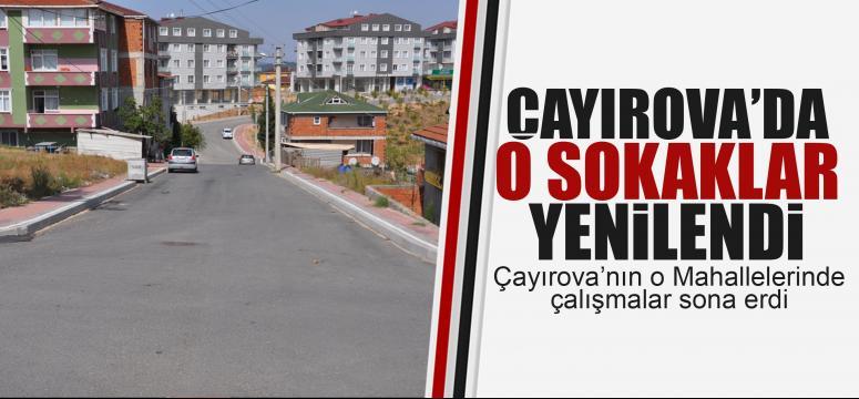 Çayırova'da 25 sokak yenilendi