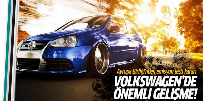 Volkswagen'de önemli gelişme!