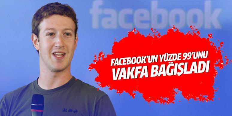 Facebook'un yüzde 99'unu bağışladı