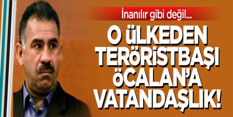 O ülkeden Öcalan'a onursal vatandaşlık