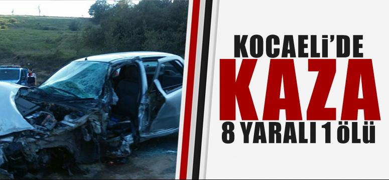 Kocaeli'de feci kaza 8 yaralı1 ölü