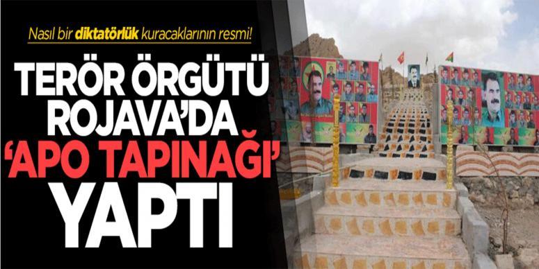PKK, Rojava'da 'Apo' tapınağı yaptı!
