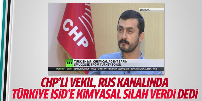 CHP'li vekil Rus kanalında Türkiye'ye iftira attı