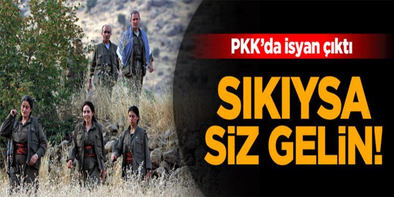 PKK'da isyan çıktı: Sıkıysa siz gelin çarpışın!