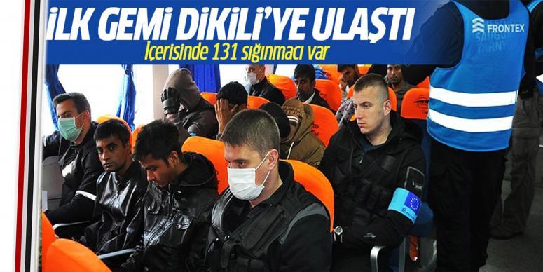 131 sığınmacı Dikili'ye ulaştı
