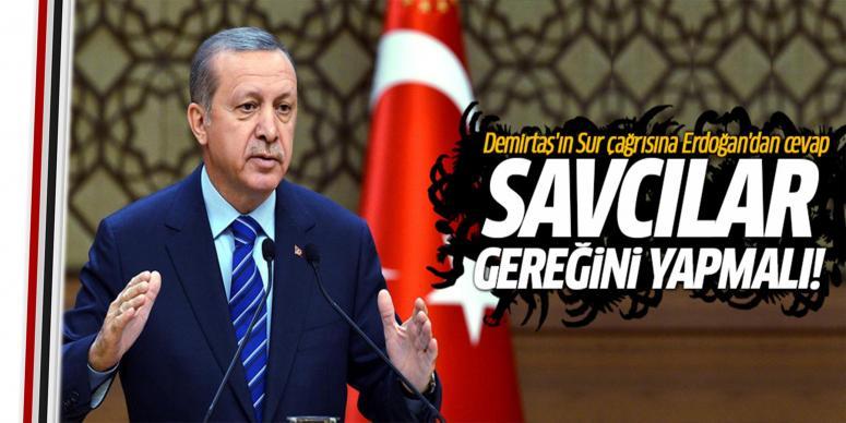 Erdoğan'dan flaş cevap!