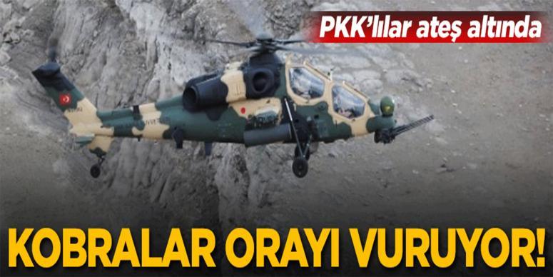 Kobralar PKK'lıları ateş altına aldı!