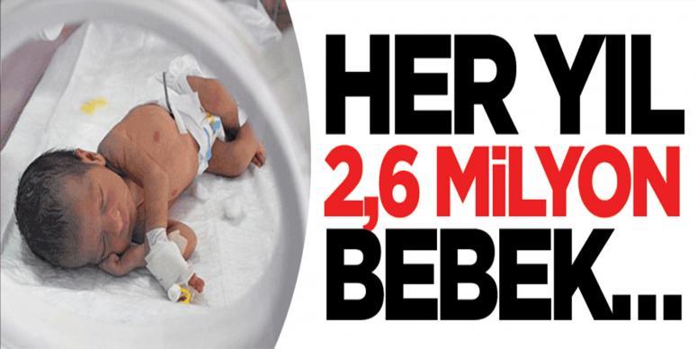 Her yıl 2,6 milyon bebek...