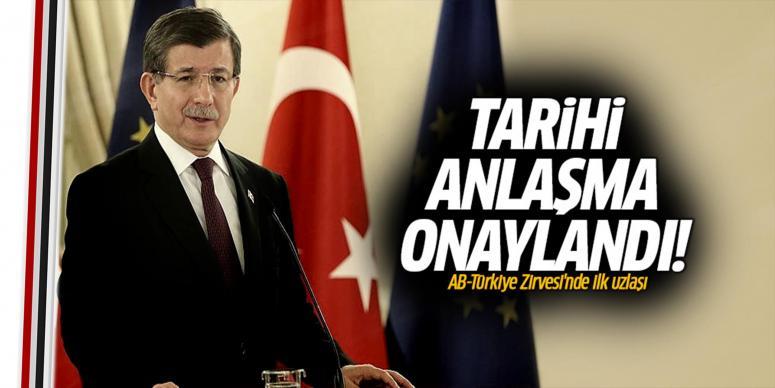 AB ve Türkiye anlaşmaya vardı