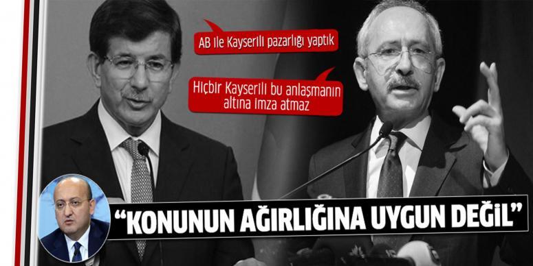 Akdoğan'dan 'Kayserililik' eleştirisi