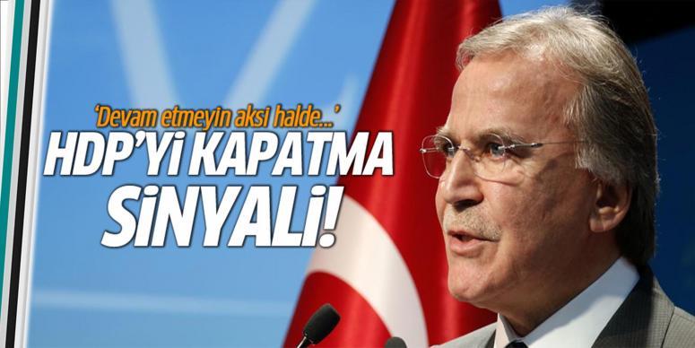 HDP'yi kapatma mesajı