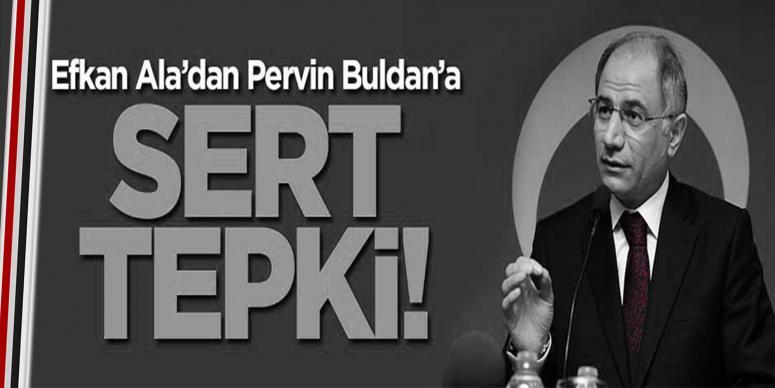 Efkan Ala'dan Pervin Buldan'a sert tepki