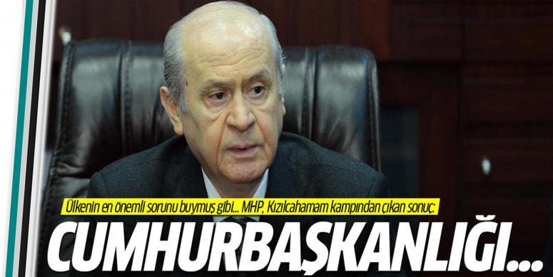 MHP'den Cumhurbaşkanlığı önerisi