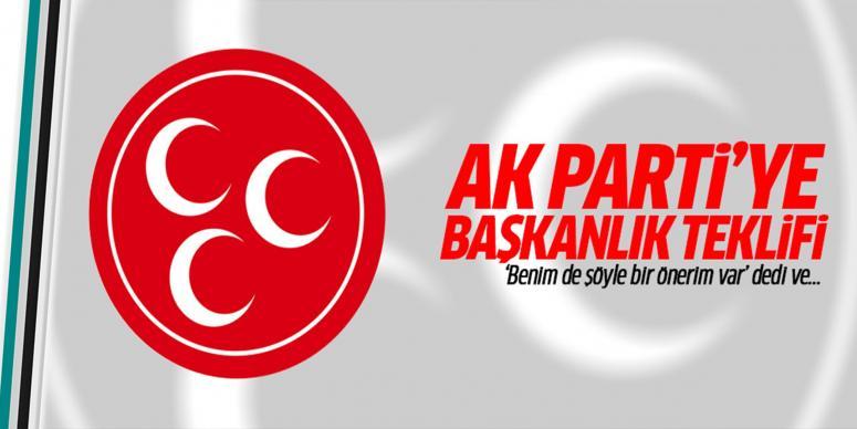 AK Parti'ye başkanlık teklifi