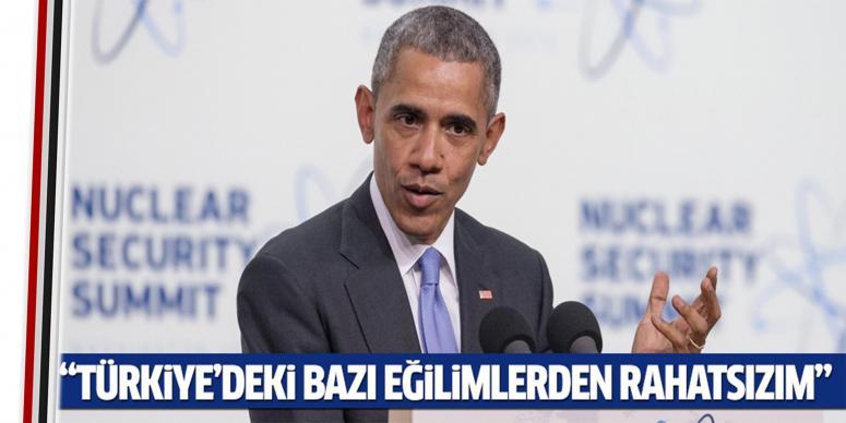 Türkiye'deki bazı eğilimlerden rahatsızım...