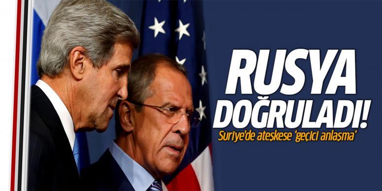 """Suriye'de ateşkese """"geçici anlaşma"""""""