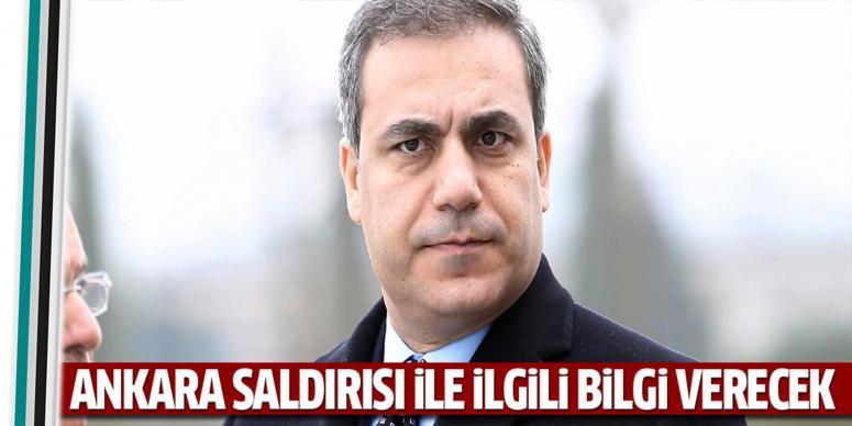 Fidan, Ankara saldırısıyla ilgili komisyona bilgi verecek