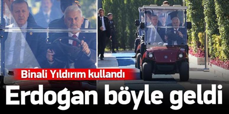 Erdoğan böyle geldi