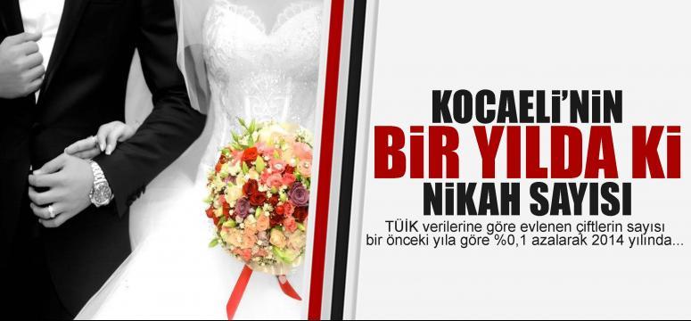 Kocaeli'de ki nikah sayısı