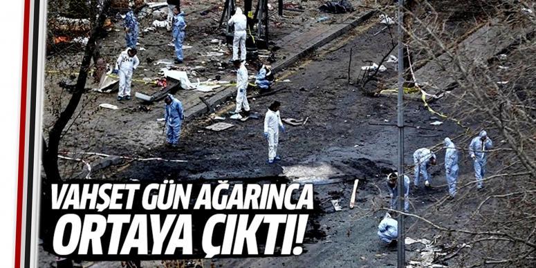 Patlamanın şiddeti gün ağarınca ortaya çıktı!