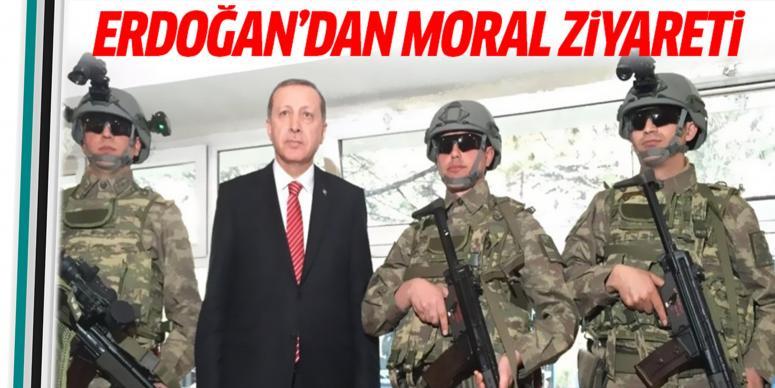 Cumhurbaşkanı Erdoğan'dan moral ziyareti!