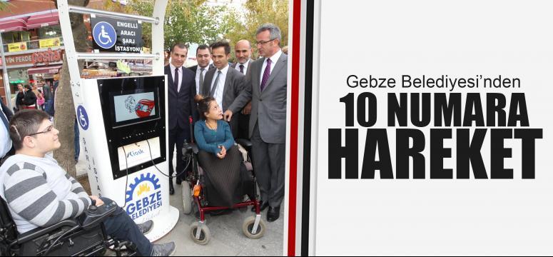 Gebze'de engelliler için şarj istasyonu