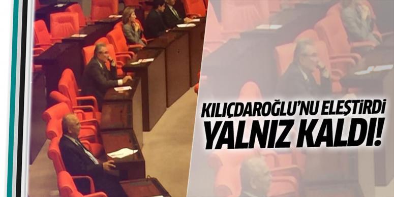 Baykal Meclis'te yalnız kaldı