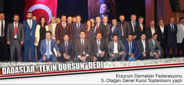 Kocaelili Erzurumluların Başkanı Tekin Dursun oldu