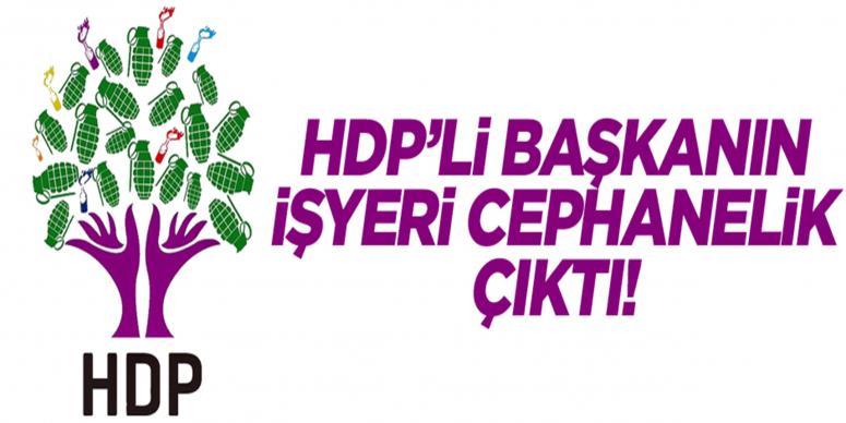 HDP'li başkanın işyeri cephanelik çıktı!