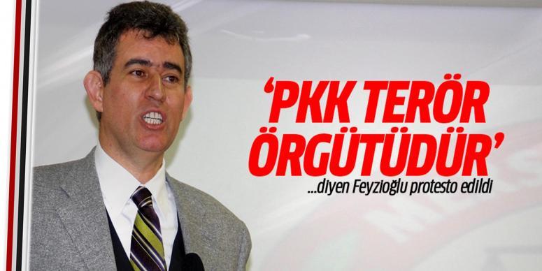 'PKK terör örgütüdür!' diye Feyzioğlu'na protesto