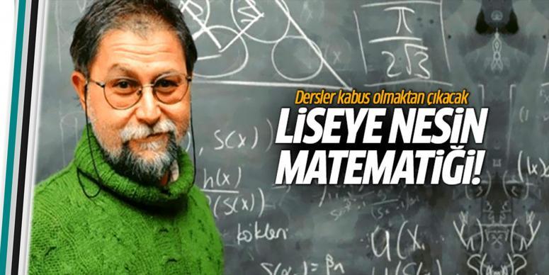 Liseliler için matematik kitabı yazıyor