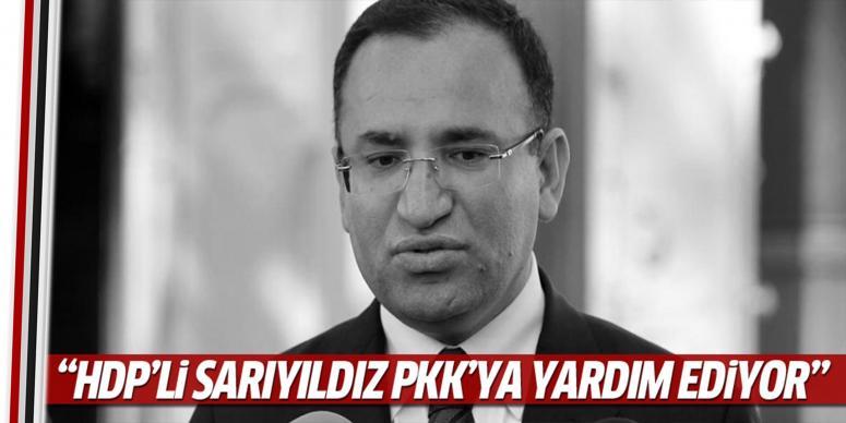 HDP'li Sarıyıldız teröristlere yardım ediyor