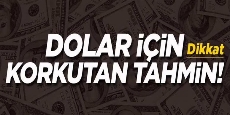 Dolar için korkutan tahmin