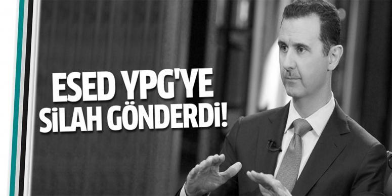 Esed YPG'ye dört uçak dolusu silah gönderdi